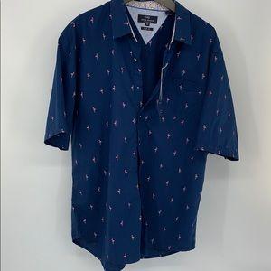 Michael Brandon Flamingo Shirt. Sz. XXL